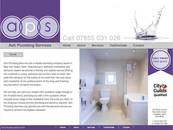 ash plumbing web design